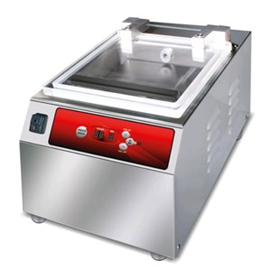 COUNTERTOP CHAMBER VACUUM PACKAGING MACHINE PLUTONE LINE mod. ALFA - DIGITAL CONTROL PANEL - Sealing bar mm 250 - EC standards