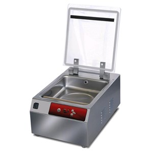 COUNTERTOP CHAMBER VACUUM PACKAGING MACHINE PLUTONE LINE mod. ESSENTIAL - DIGITAL CONTROL PANEL - Sealing bar mm 300 - EC standards