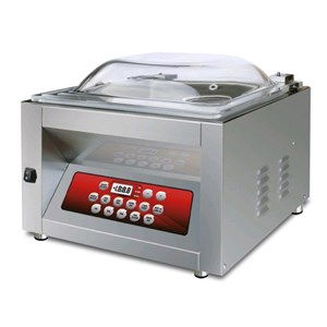 COUNTERTOP CHAMBER VACUUM PACKAGING MACHINE SATURNO LINE mod. MIXER DISPLAY - DIGITAL CONTROL PANEL - Sealing bar mm 450 - EC standards