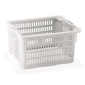 PERFORATED POLYETHYLENE BASKET - INSERTABLE AND STACKABLE