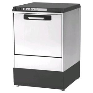 "ELECTRONIC GLASSWASHER - AISI 304 STAINLESS STEEL 18/10 - MODEL 6322 VZ - CLEARANCE MAX HEIGHT cm 29 - ROUND RACK, diameter cm 41 - CYCLE 120"" - RINSE AID DISPENSER - Total dimensions cm L 47,5 x D 50,5 x h 71,9"