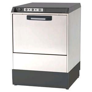 "ELECTRONIC DISHWASHER - AISI 304 STAINLESS STEEL 18/10 - MOD. 7222 VZ - SINGLES PHASE - CLEARANCE MAX HEIGHT cm 32 - SQUARE RACK cm 50 x 50 - CYCLE 120"" - RINSE AID DISPENSER - Total dimensions cm L 59 x D 60 x h 81,7"
