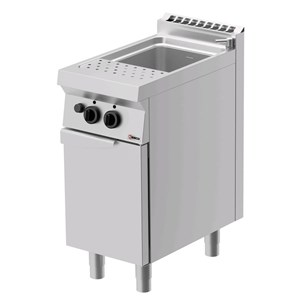 GAS PASTA COOKER - MOD. CPG71O0 - N. 1 tank Lt. 26 - N. 1 ambient cupboard with door - Power kW 9 - DIMENSIONS: cm L 40 x D 70 x H 90 - CE APPROVED