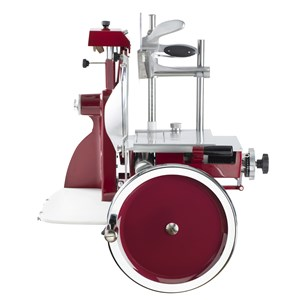 MANUAL FLYWHEEL SLICER-Mod. F 300 FLYING-blade Ø 300-mm cutting length 230x190-Sharpener-dimensions cm 60 x 72 x 74 H L P-CE