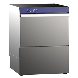 """AISI 304 STAINLESS STEEL MECHANICAL GLASSWASHER - Mod. G 40 GEM - WITH DRAIN PUMP - MAX HEIGHT CLEARANCE 26,5 cm - SQUARE RACK 40 x 40 cm - CYCLE 120"""" - RINSE AID DISPENSER - Total dimensions L 46,5 x D 51 x h 65 cm"""