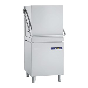 MECHANICAL DISHWASHER - STAINLESS STEEL - MOD. ES90 - THREE PHASE - MAX GLASS CLEARANCE cm 40 - MAX PLATE CLEARANCE cm Ø 44 - SQUARE RACK cm 50x50 - CYCLE (sec) 75/180 - HYDRAULIC RINSE AID DOSING PUMP - Total dimensions cm L 63,5 x D 73,5 x h 146