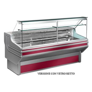 REFRIGERATED SERVE-OVER DISPLAY COUNTER - IDEAL FOR THE DISPLAY OF DELI, DAIRY AND GASTRONOMY PRODUCTS - MOD. JINNY_VT - GRANITE WORKTOP - STAINLESS STEEL DISPLAY DECK - TEMPERED GLASS FRONT - REAR REFRIGERATED CHAMBER - BUILT-IN MOTOR - SINGLE PHASE SUPPLY V 230/50 Hz - VENTILATED COOLING - TEMPERATURE °C 0/+2 - EC STANDARDS - DISPLAY DECK DEPTH: 66,5 cm