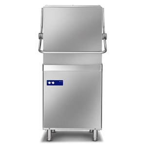 """AISI 304 STAINLESS STEEL MECHANICAL DISHWASHER - Mod. PG 1000 GEM - WITH DRAIN PUMP - THREE PHASE - MAX HEIGHT CLEARANCE 43 cm - SQUARE RACK 50 x 50 cm - CYCLE 120/180"""" - RINSE AID DISPENSER - Dimensions L 65,5 x D 78,5 x h 148 cm"""