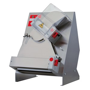 PIZZA DOUGH SHEETER - PIZZA ROLLING MACHINE - 2 SETS OF ROLLERS (top rollers inclined) - Mod. TO 32 C - Roller length cm 31 - Power hp 0,33 - Single phase 230 V - CE approved