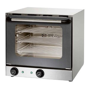 ELECTRIC CONVECTION OVEN - MOD. S 3 - CHAMBER DIMENSIONS cm L 35 x D 29 x 27,5 h - SINGLE PHASE 230V/1/50Hz - POWER Kw 2,6 - DIMENSIONS cm L 46 x D 55,6 x 46 h - CE APPROVED
