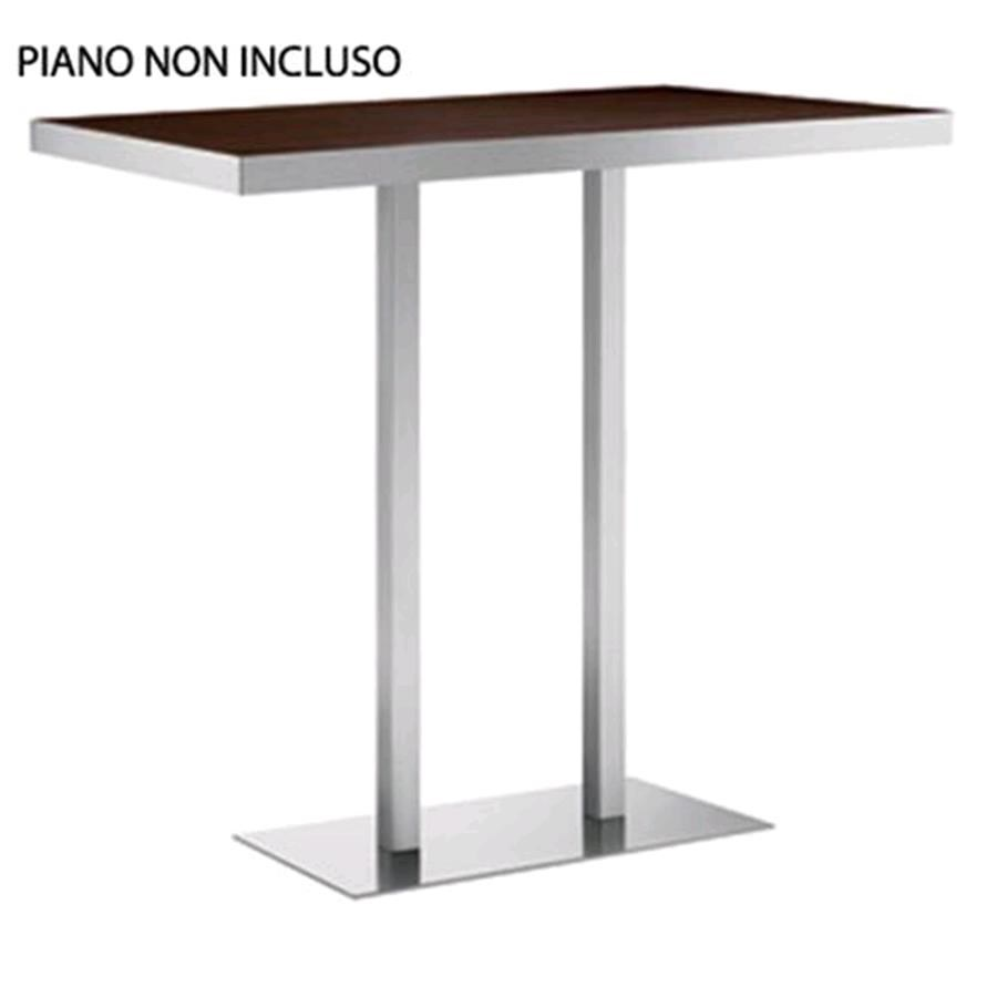 Base xt mod 496aq satinized or shiny stainless steel for Table 80x120