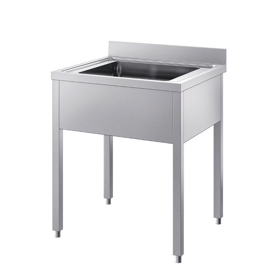 Sink Unit N 1 Basin Square Legs Plain No Bottom